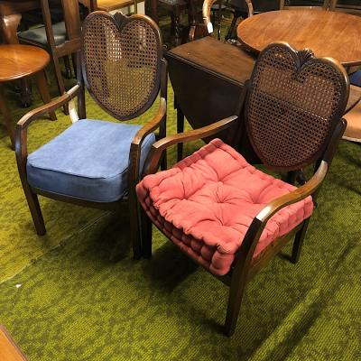 Art Deco Oak Bergere Fire Side Chairs