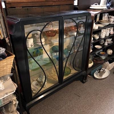 Art Deco Style Glazed Display Cabinet
