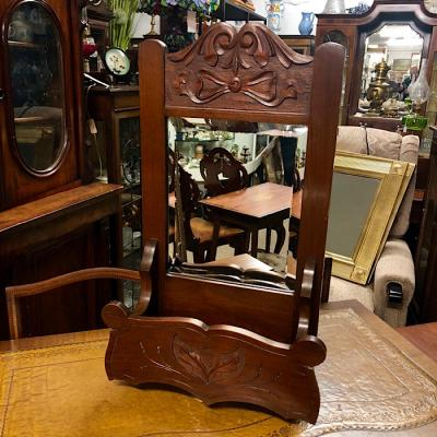Art Nouveau Mahogany Hall Mirror