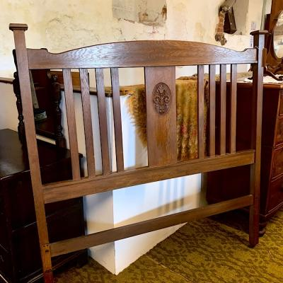 Arts and Crafts Double Headboard