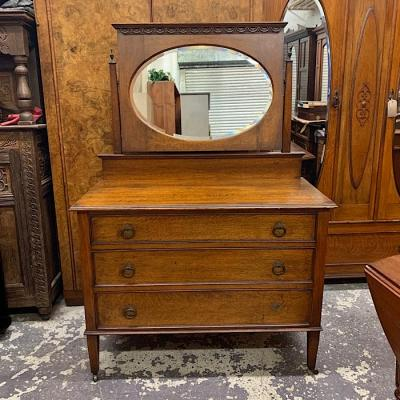 Arts And Crafts Oak Dressing Table