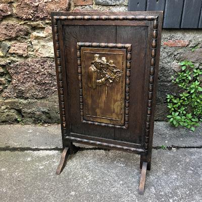 Carved Oak Firescreen