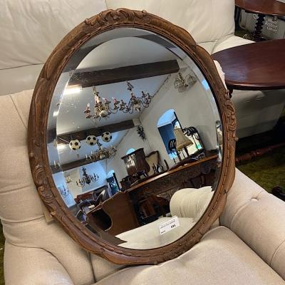 Carved Oval Mirror