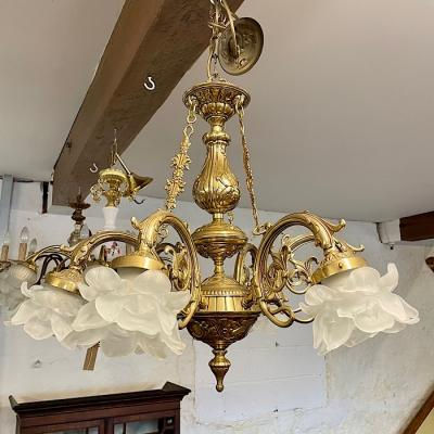 Cast Brass Chandelier