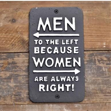 Cast Iron Sign - Women Right