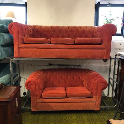 Chesterfield Style Upholstered Suite