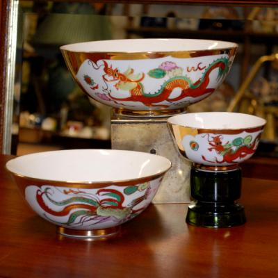 Chinese Set of 3 Bowls