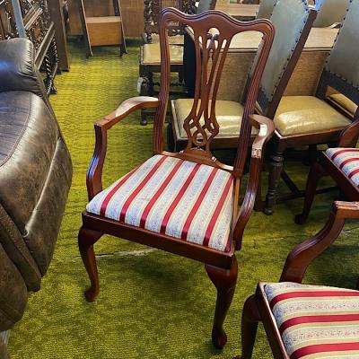 Chippendale Revival Mahogany Carver Chair