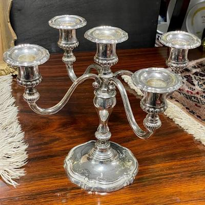 Chrome Five Arm Candelabra