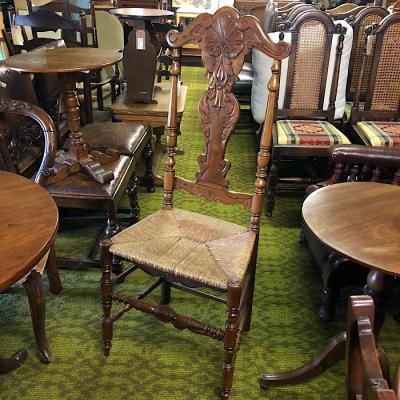 Continental Carved Back Set 4 Dining Chairs