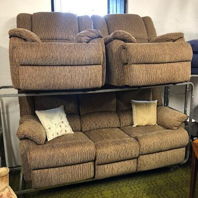 Cord Fabric Reclining Suite