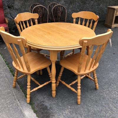 Country Style Round Table & Four Chairs