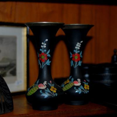 Pr Metal Vases