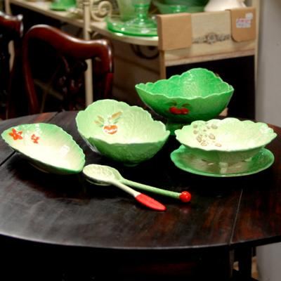 Selection of Cabbage Leaf Serving Bowls