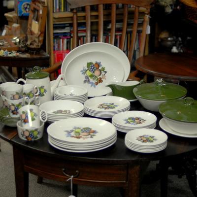 Large Vintage Dinner Service