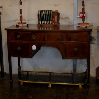 Mahogany Kneehole Dressing Table