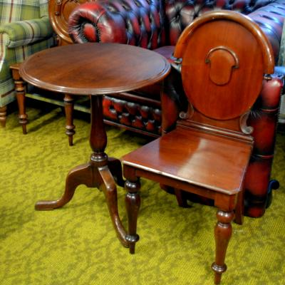 Victorian Mahogany Shield Back Hall Seat