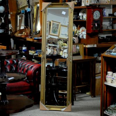 Long Gilt Frame Cheval Mirror