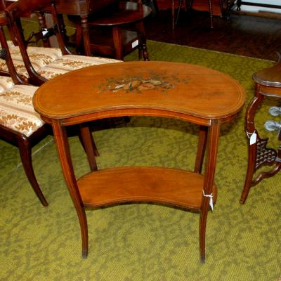 Edwardian Kidney Shaped Side Table