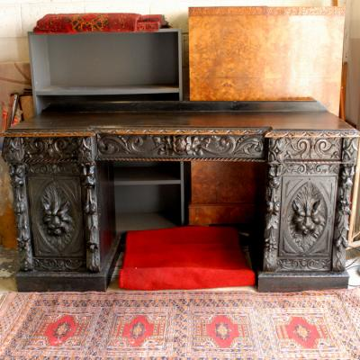 Carved Oak Sideboard