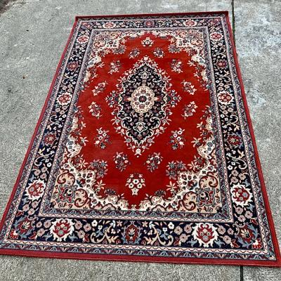 Deep red large area rug