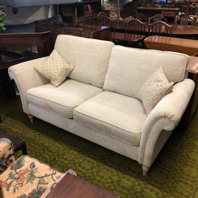 Designer Natural Patterned Two Seater Sofa