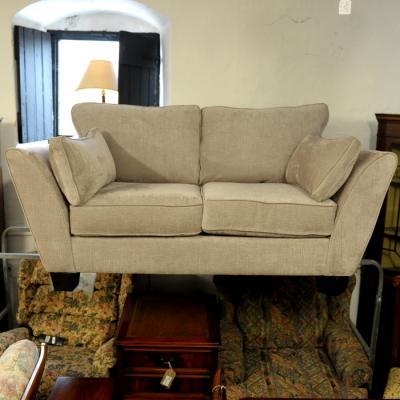 Designer Silver Grey Two Seater Sofa