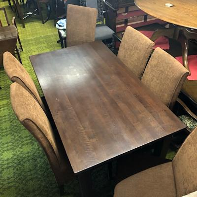 Draw Leaf Table & Six Chairs