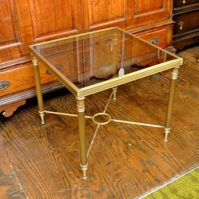 Brass and Glass Occasional Table
