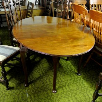 Mahogany Drop Leaf Dining Table