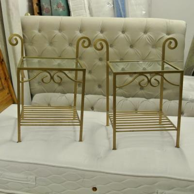Ornate brass coloured Night Stands