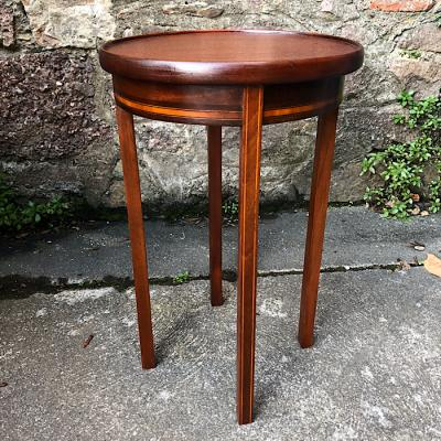 Edwardian Four Leg Inlaid Occasional Table