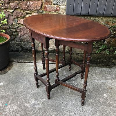 Edwardian Inlaid Mahogany Drop Leaf table