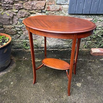 Edwardian Mahogany Oval Occasional Table