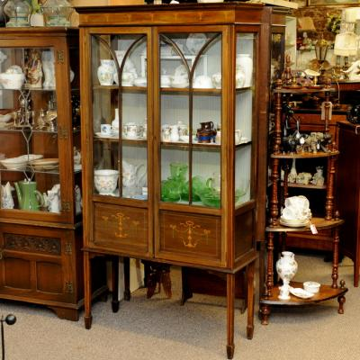 Edwardian Mahogany china cabinet