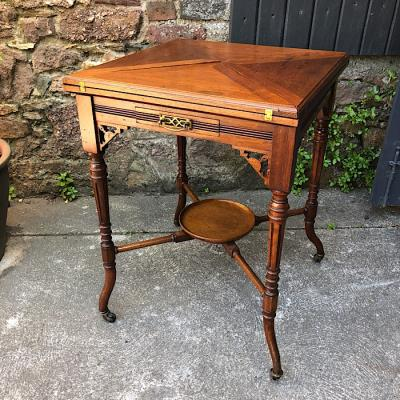 Edwardian Mahogany Envelope Card Table