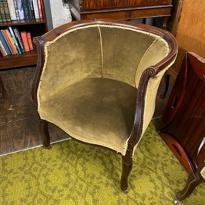 Edwardian Mahogany Salon Chair