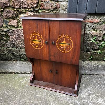 Edwardian Mahogany Wall Mounted Cabinet