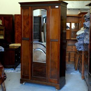 Edwardian Mahogany Wardrobe
