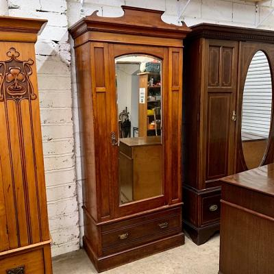 Edwardian Satin Walnut Wardrobe