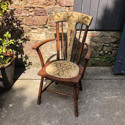 Edwardian Semi Upholstered Carver