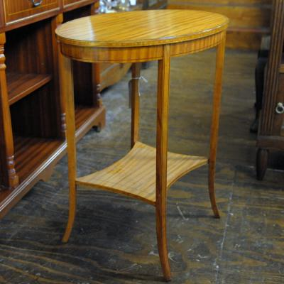 Edwardian Sheraton Revival Oval Occasional Table