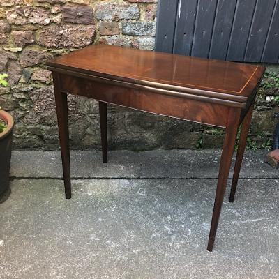 Edwardian Style Fold Over Card Table