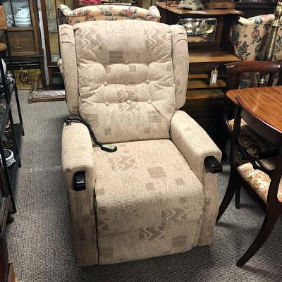 Fabric Lift & Rise Reclining Armchair