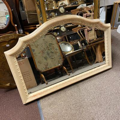 Faux Marble Bevelled Overmantle Mirror