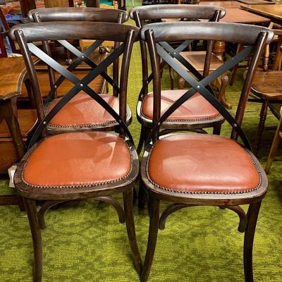 Four Bistro Style Bentwood Chairs