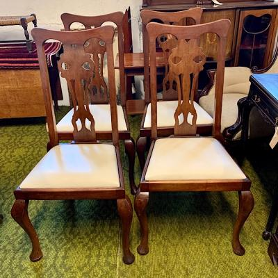 Four Georgian Style Mahogany Dining Chairs