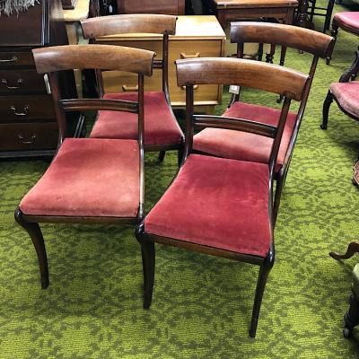 Four Regency Rosewood Dining Chairs