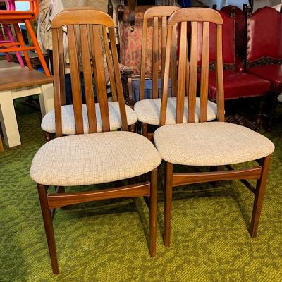 Four Teak Dining Chairs