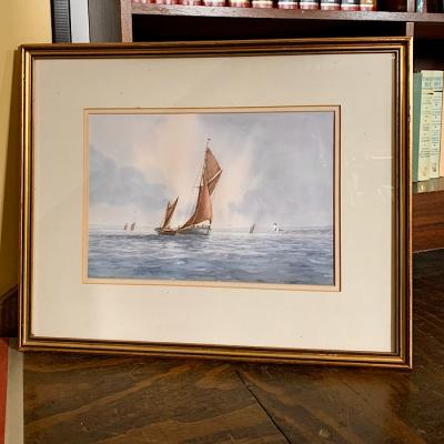 Framed Watercolour Alan Whitehead